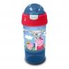 กระติกน้ำพร้อมหลอดดื่มสำหรับบรรจุเครื่องดื่มและของว่าง Sip N Snack Bottle (Peppa Pig Blue)