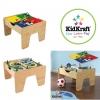 โต๊ะกิจกรรมสำหรับเลโก้พร้อมชุดรถไฟ Kidkraft 2-in-1 Activity Table with LEGO-Compatible Board and Train Set (Natural)