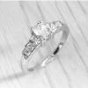 แหวนชุบทองคำขาวแท้ ประดับเพชร