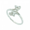 แหวนอัลลอยด์ชุบทองคำขาว ประดับเพชร