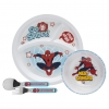 ชุดอุปกรณ์รับประทานอาหาร Zak! Spider-Man Mealtime Set