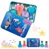ชุดยาทาเล็บปลอดสารพิษสำหรับเด็กพร้อมกล่องบรรจุ TownleyGirl 4-Pack Nail Polish with Carrying Case (Finding Dory)