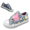 รองเท้าผ้าใบสำหรับลูกสาว Peppa Pig Canvas Trainers for Girls (Blue Roseland)