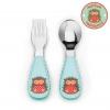 ชุดช้อนและส้อมสำหรับเด็กสุดน่ารัก Skip Hop รุ่น Zootensils Little Kids Fork & Spoon (Hedgehog)