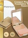 Compact Powder Foundation With Sunscreen / แป้งผสมครีมรองพื้นและทองคำ แป้งเค้กสูตร Silicone Treated เนื้อเนียน ติดทนนาน สำเนา