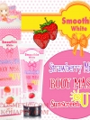 Smoothie White Strawberry Milk Body Mask Sunscreen SPF 50 / โลชั่นบำรุงผิวกาย สมูตตี้ ไวท์ สตรอว์เบอร์รี่ มิลค์ บอดี้ มาร์ค ซันสกรีน เอสพีเอฟ 50