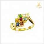 แหวนพลอยนพเก้า ทองแท้ ตามตำราโบราณ (สามารถสั่งทำได้ค่ะ)