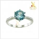 แหวนเพทายแท้ สวยโดดเด่นเต็มๆ นิ้ว ได้ทุกโอกาส