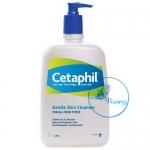 Cetaphil Gentle Skin Cleanser 1 Litre (1000 mL) เซตาฟิลล้างหน้า สำหรับผิวบอบบาง แห้ง แพ้ง่าย หรือผิวปกติ ไม่มีส่วนผสมของสบู่และน้ำหอม