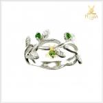 แหวนกรีนไดออปไซด์ รูปใบมะกอก น่ารักๆ