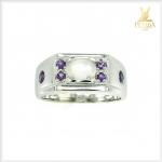 แหวนมุกดาหารแท้ อัญมณีสีขาวนวล ชวนให้หลงใหล