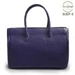 SL337-3 กระเป๋าถือหนังแท้ ชนิดหนังอัดลาย สีม่วง (Purple)