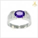 แหวนอเมทิสต์แท้ สีม่วงสดใส เพิ่มความมั่นใจ
