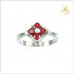 แหวนออเร้นท์แซฟไฟร์แท้ ซองเจีย ดอกไม้