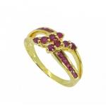 แหวนทับทิม ตัวเรือนอัลลอยด์หุ้มทองคำแท้