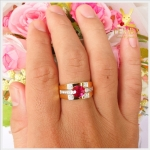 แหวนทับทิมแท้ (โมซัมบิก) ทองแท้ เพชรแท้ (สอบถามราคา)