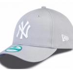 หมวก NY NEW ERA 9FORTY Adjustable - Gray (สติ๊กเกอร์เขียว)