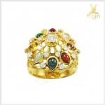 แหวนนพเก้า ทองแท้ เพชรแท้ เสริมโชคลาภ(สามารถสั่งทำได้ค่ะ)