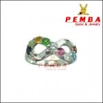 แหวนนพเก้า Infinity ตามตำราโบราณ เงินแท้925 ชุบทองคำขาว