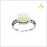 แหวนโอปอล เงินแท้ ชุบทองคำขาว