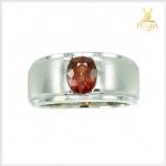 แหวนสเปสซาร์ไทต์ โกเมนสีส้มหายาก เรียบๆ แต่มีสไตล์