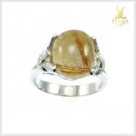 แหวนไหมทองแท้ เงินแท้ ชุบทองคำขาว