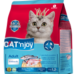 Cat'n Joy Adult Ocean Fish Mix แคท เอ็น จอย แมวโต สูตรปลาทะเล 1.2 KG x 2 ถุง