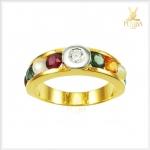 แหวนนพเก้า ทองแท้ เพชรแท้ ตามตำราโบราณ (สามารถสั่งทำได้ค่ะ)
