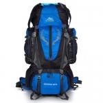 NL10 กระเป๋าเดินทาง สีน้ำเงิน ขนาด 80+5 ลิตร (เสริมโครง)