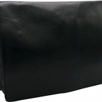 SL295-1 กระเป๋าสะพายไหล่หนังแท้เกรดพรีเมี่ยม ทรงแมสเซนเจอร์ (สีดำ)