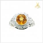 แหวนพลอยเพทายเหลือง สวยงามดั่งบุษราคัม