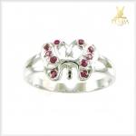แหวนทับทิมพม่าแท้ ผีเสื้อ เงินแท้