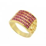 แหวนทับทิม ตัวเรือนอัลลอยด์หุ้มทองแท้