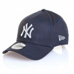 หมวก NY NEW ERA 9FORTY Adjustable - Navy Blue (สติ๊กเกอร์ดำเงิน)