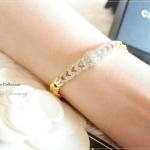 สร้อยข้อมือหุ้มทองคำแท้ รหัส INJ594