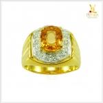 แหวนซิทริน เงินแท้ชุบทอง ใส่เสริมบารมี เพิ่มความมั่นใจ