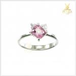 แหวนพิงค์สปิเนลแท้ สีชมพูใสไฟดี น่ารักๆ