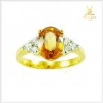 แหวนบุษราคัม แหวนพลอยบุษราคัมสวยๆ (สามารถสั่งทำได้ค่ะ)