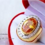 แหวนผู้ชายหุ้มทองแท้ประดับด้วยเพชรสวิส cz แท้ รหัส INJ123