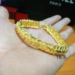 สร้อยข้อมืองานหุ้มทองคำแท้ รหัส INJ094