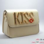KISS กระเป๋าแฟชั่นสุดสวยสำหรับสุภาพสตรีทุกคน (สีครีม) ส่งฟรีค่ะ!