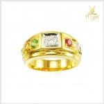 แหวนนพเก้าแท้ ทองแท้ เพชรแท้ (สามารถสั่งทำได้ค่ะ)