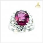 แหวนโรโดไลต์ เงินแท้ สีม่วงสวยมากๆ ค่ะ