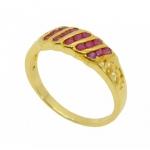 แหวนทับทิม ตัวเรือนอัลลอยด์ หุ้มทองคำแท้