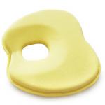 หมอนหัวทุย หมอนหลุม หมอนหลุมป้องกันหัวแบน สีเหลือง