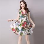 พรีออเดอร์ เสื้อตัวยาว เดรสสั้น คอวี ลายดอก มีสีขาว สีดำ ลายสวย สดใส ค่ะ ปลีก450 ส่ง400