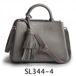 SL344-4 กระเป๋าถือ/สะพาย หนังแท้ สีเทา
