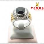 แหวนนิลแท้ เงินแท้925 ชุบทองคำขาว (ส่งฟรีEMS)