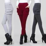 พรีออเดอร์ กางเกงกันหนาว กางเกงขาสั้นตัดต่อเลคกิ้งขายาว ผ้าเนื้อดี มีแบบบุข กันหนาว และ แบบไม่บุขน Size S-5XL