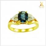 แหวนไพลินจันท์ หายาก สวมใส่บนนิ้วโดดเด่นสะดุดตา(สอบถามราคา)